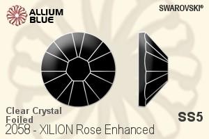 c7acc1a2b Swarovski XILION Rose Enhanced Flat Back No-Hotfix (2058) SS5 - Clear  Crystal