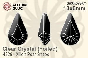 4328 Swarovski® Fancy Stones Xilion Pear 10X6mm