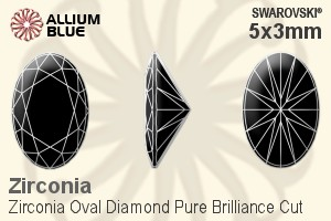 a938797f2129 Swarovski Zirconia Oval Diamond Pure Brilliance Cut (SGODPBC) 5x3mm -  Zirconia White
